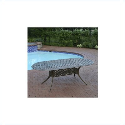 "Oakland Living Antique Bronze 84"" x 42"" Oval Table"