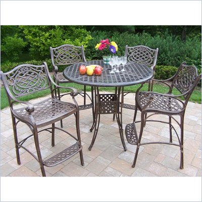 Oakland Living Elite Mississippi 42 Inch 5 Piece Bar Set