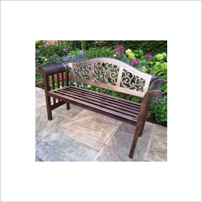 Oakland Living Mississippi Royal Metal Outdoor Patio Bench in Antique Bronze
