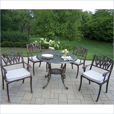 Mississippi 42 Inch Tulip 5pc Dining Set with Cushions