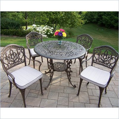 Mississippi 42 Inch Morocco 5pc Dining Set with Cushions