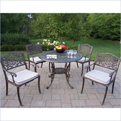 Oakland Living Mississippi 42 Inch 5pc Dining Set with Cushions