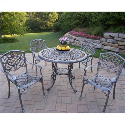 Oakland Living Mississippi 42 Inch 5pc Dining Set