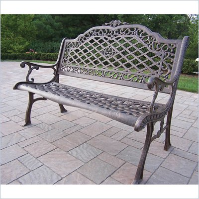 Oakland Living Mississippi High Back Bench in Antique Bronze