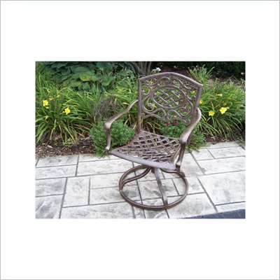 Oakland Living Mississippi Antique Bronze Swivel Rocker