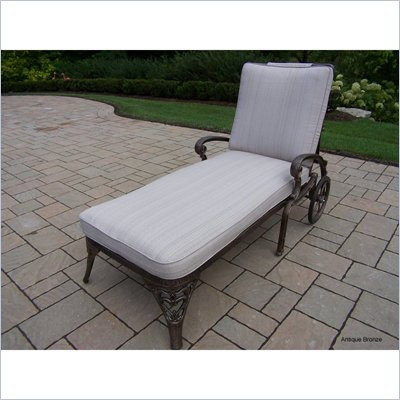 Oakland Living Mississippi Light Weight Chaise Lounge with Cushion