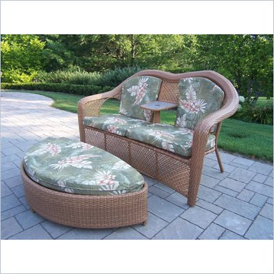 Oakland Living New Century Loveseat Ottoman Set