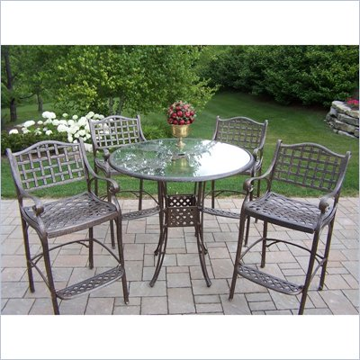Oakland Living Hummingbird Elite 42 Inch 5pc Bar Set