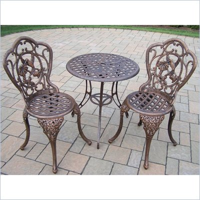 Oakland Living Hummingbird 3pc Bistro Set