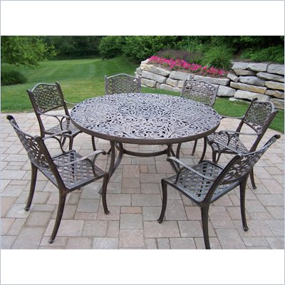 Oakland Living Mississippi 60 Inch 7pc Dining Set
