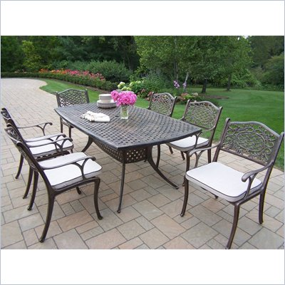 Oakland Living Oxford Mississippi 7pc Dining Set with Cushions