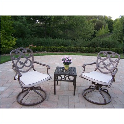 Oakland Living Pacifica 3pc Swivel Rocker 3pc Set with Cushions