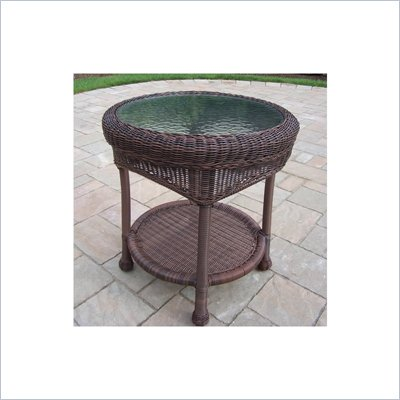 Oakland Living Resin Wicker End Table