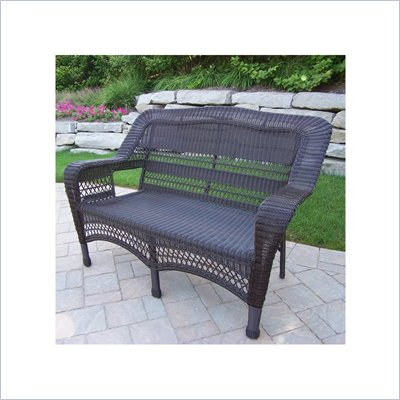 Oakland Living Resin Wicker Aluminum Frame Loveseat