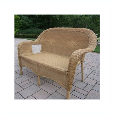 Oakland Living Resin Wicker Loveseat