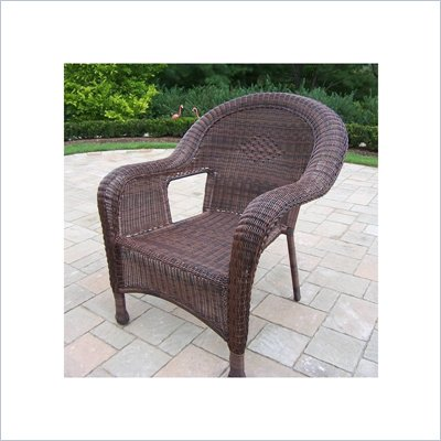 Oakland Living Resin Wicker Arm Chair