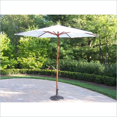 Oakland Living 9 Ft Market Umbrella with Pulley