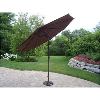 Oakland Living 9 Ft Umbrella with Stand
