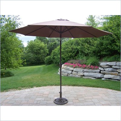 Oakland Living 9 Ft Umbrella with Crank and Tilt
