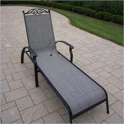 Oakland Living Cascade Sling Chaise Lounge