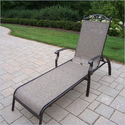 Oakland Living Cascade Sling Chaise Lounge in Coffee Finish
