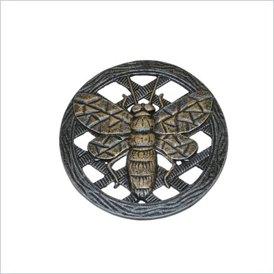 Oakland Living Stepping Stone Bee in Antique Pewter