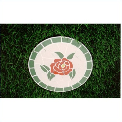 Oakland Living Stepping Stone Mosaic Rose