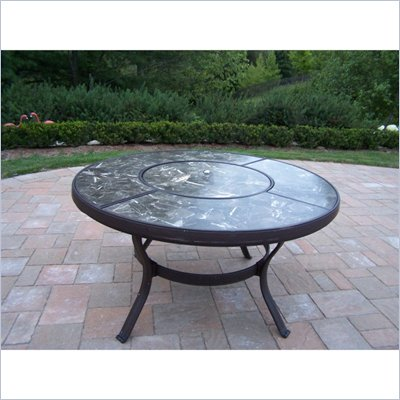 Oakland Living Stone Art 44 Inch Chat Table