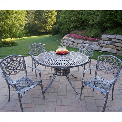 Oakland Living Sunray 48 Inch Mississippi 5pc Dining Set