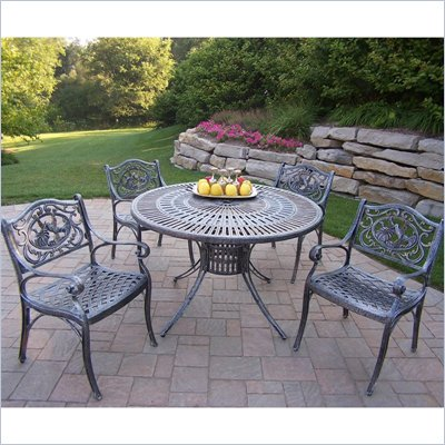 Sunray 48 Inch Hummingbird 5pc Dining Set