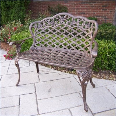 Oakland Living Tea Rose Loveseat in Antique Bronze