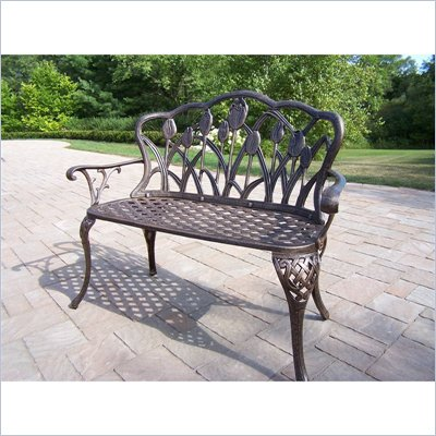 Oakland Living Tulip Loveseat in Antique Bronze