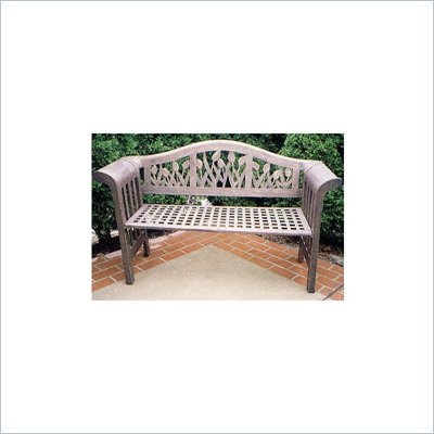 Oakland Living Tulip Antique Bronze Royal Bench