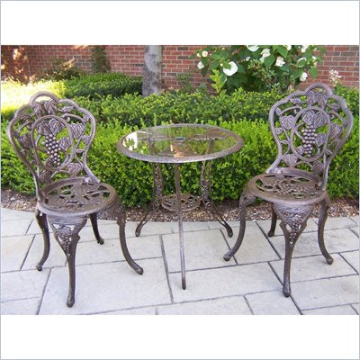 Oakland Living Vineyard 3-Piece Bistro Set