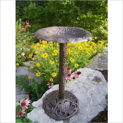 Oakland Living Vineyard Bird Bath in Antique Bronze