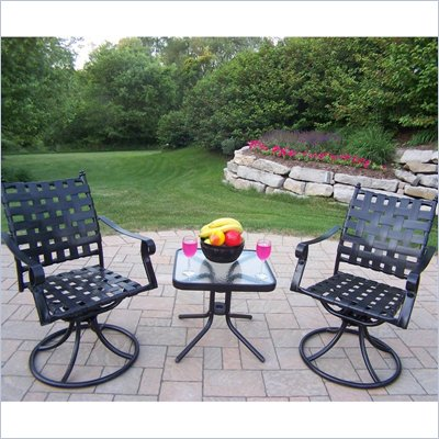 Oakland Living Web 3pc Swivel Chat Set