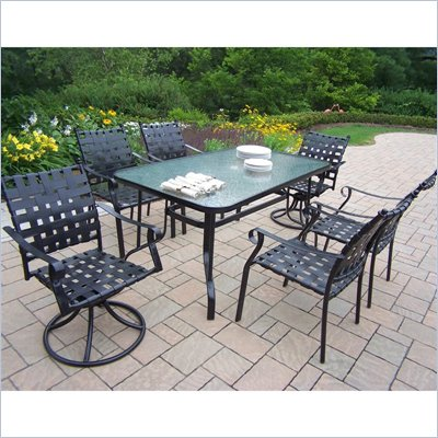Oakland Living Web 7pc Dining Set with Swivels