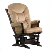 Dutailier Sleigh Glider-Multiposition in Espresso and Light Brown