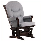 Dutailier Sleigh Glider-Multiposition in Espresso and Dark Grey Fabric