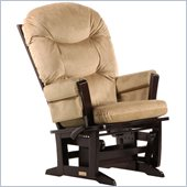 Dutailier Modern Glider-Multiposition in Espresso and Light Brown