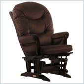 Dutailier Sleigh Glider and Recliner Chair in Espresso and Chocolate