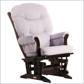Dutailier Sleigh Glider and Recline in Espresso and Light Grey
