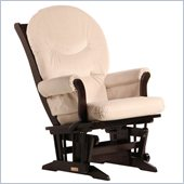Dutailier Sleigh Glider and Recline in Espresso and Light Beige