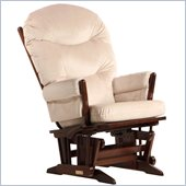Dutailier 2 Post Glider and Recline in Coffee and Light Beige