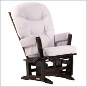 Dutailier Modern Glider and Recline in Espresso and Light Grey