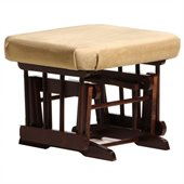 Dutailier Coffee Ottoman For Sleigh and Post Gliders in Light Brown