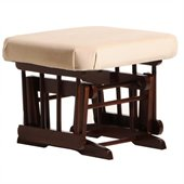 Dutailier Coffee Ottoman For Sleigh and 2 Post Gliders in Light Beige