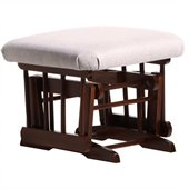 Dutailier Coffee Ottoman For Sleigh and 2 Post Gliders in Light Grey