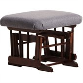 Dutailier Ottoman For Sleigh and Post Gliders in Coffee and Dark Grey