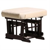 Dutailier Espresso  Ottoman For Sleigh and Post Gliders in Light Beige
